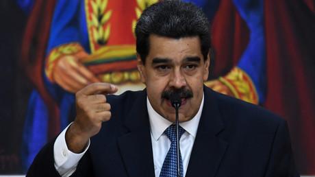 Le président vénézuélien Nicolas Maduro lors d'un discours tenu au palais présidentiel, à Caracas, le 27 juin 2019, au Venezuela (image d'illustration).