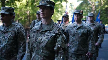 Des soldats américains lors du Memorial Day, le 27 mai 2019, à Naugatuck (Connecticut), aux Etats-Unis (image d'illustration).