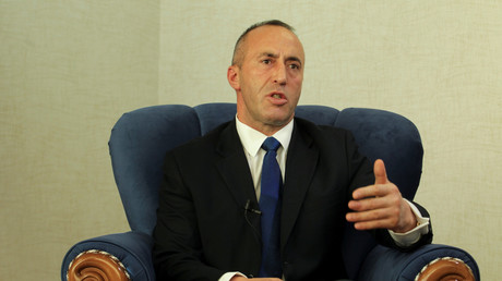 Ramush Haradinaj lors d'une interview donnée à Reuters, en octobre 2017 (image d'illustration).