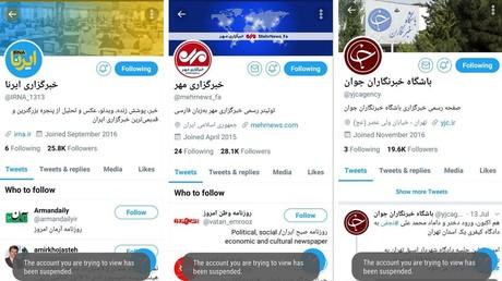 Les comptes des médias iraniens suspendus par Twitter.