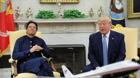 Rencontre au sommet entre le Premier ministre pakistanais et le président américain dans le bureau ovale de la Maison Blanche, le 22 juillet.