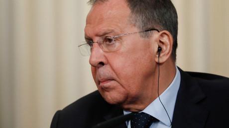 Le ministre russe des Affaires étrangères Sergueï Lavrov lors d'une conférence de presse à Moscou, le 26 juin 2019.