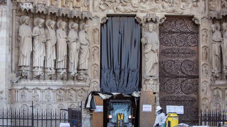 Les travaux continuent à Notre-Dame de Paris, le 24 juillet.