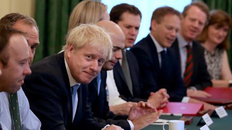 Boris Johnson lors de son premier Conseil des ministres en tant que chef du gouvernement, le 25 juillet.