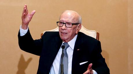 Le président tunisien Beji Caïd Essebsi au Palais Carthage de Tunis, en Tunisie, le 25 octobre 2018.
