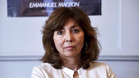 La députée Corinne Vignon en conférence de presse à Toulouse, mai 2017 (image d'illustration).