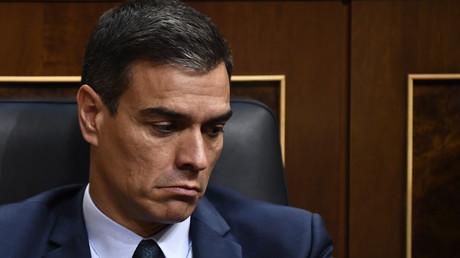 Le chef du gouvernement espagnol Pedro Sanchez, au Congrés, le 25 juillet 2019, à Madrid (image d'illustration).