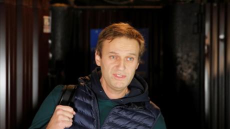 Alexeï Navalny sortant de prison à Moscou le 14 octobre 2018 (image d'illustration).