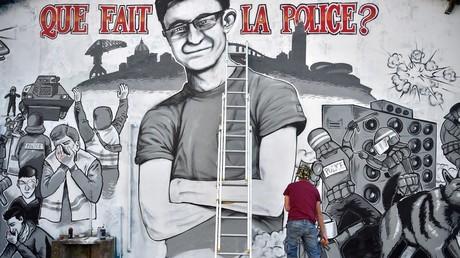 Un graffiti réalisé à Nantes, Quai Wilson, par Eric et Lucas.