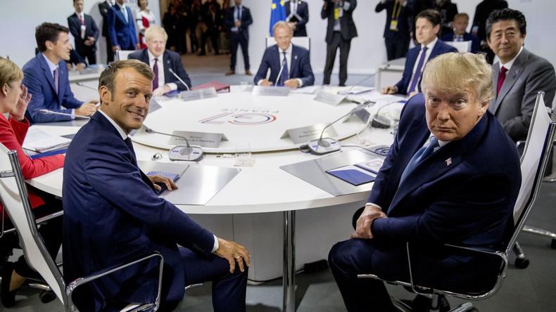 Amateurisme diplomatique? Recadré par Trump, Macron reconnaît ne pas avoir été mandaté par le G7