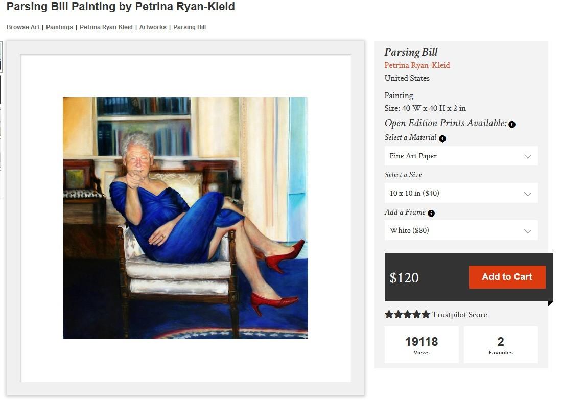 Un tableau de Bill Clinton vêtu d'une robe et de talons a-t-il été retrouvé chez Jeffrey Epstein ?