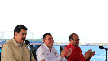 Nicolas Maduro lors d'une conférence sur le transport maritime vénézuélien, le 2 août 2019.