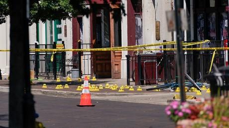 Les lieux de la fusillade de Dayton (Ohio) aux Etats-Unis, le 4 août 2019.