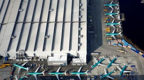 Des Boeing 737 MAX parqués sur le tarmac de l'usine Boeing de Renton près de Seattle (Etat de Washington) aux Etats-Unis, le 21 mars 2019.