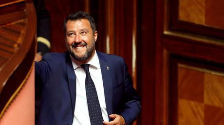 Matteo Salvini le 5 août, au Sénat (image d'illustration).