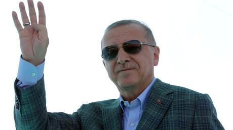 Le président turc, Tayyip Erdogan à Bursa, en Turquie, le 4 août 2019.