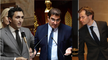 Les trois candidats en lice pour la présidence des Républicains, de gauche à droite : Julien Aubert, Christian Jacob et Guillaume Larrivé.  (image d'illustration).