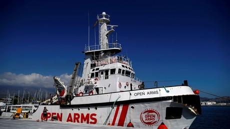 Le navire de l'ONG Proactiva Open Arms au port de Motril (Espagne), en octobre 2018