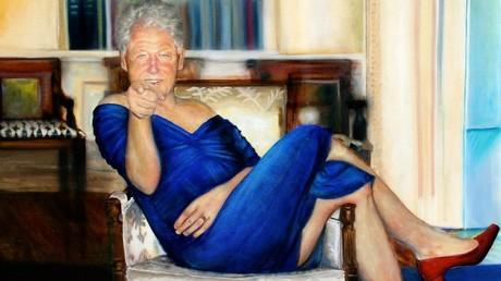 Ce tableau de Bill Clinton était-il accroché dans la demeure de Jeffrey Epstein ?
