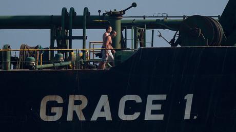 Le Grace 1, le 15 août 2019, au large des côte de Gibraltar (image d'illustration).