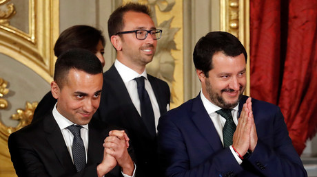 Luigi di Maio et Matteo Salvini en juin 2018 (image d'illustration).
