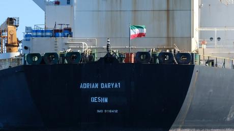 Le pétrolier Adrian Darya près des côtes de Gibraltar le 18 août 2019 (image d'illustration).