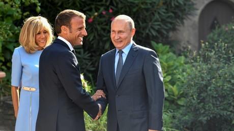 Vladimir Poutine et Emmanuel Macron le 19 août 2019 au fort de Brégançon