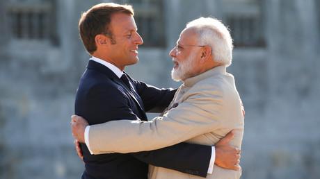 Emmanuel Macron et le Premier ministre indien, Narendra Modi, le 22 août 2019, au château de Chantilly, dans l'Oise (image d'illustration).