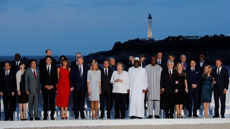 Photo de famille au G7.