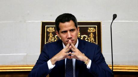 Le chef de l'opposition Juan Guaido à l'Assemblée nationale vénézuélienne à Caracas, le 20 août 2019.