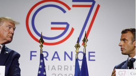 Donald Trump et Emmanuel Macron en conférence de presse le 26 août à Biarritz.