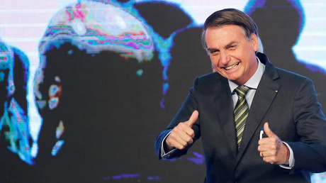 Jair Bolsonaro lors d'un congrès sur l'acier à Brasilia le 21 août (image d'illustration).