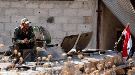 Un militaire syrien à Khan Cheikhoun, dans la région d'Idleb le 24 août 2019 (image d'illustration).