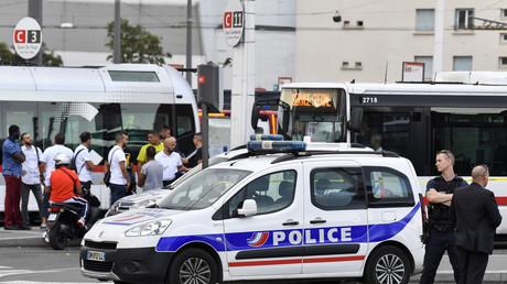 La scène de l'attaque au couteau à Villeurbanne, le 31 août.