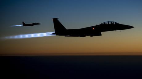 Des avions de chasse F15-E de l'armée de l'Air américaine (illustration)