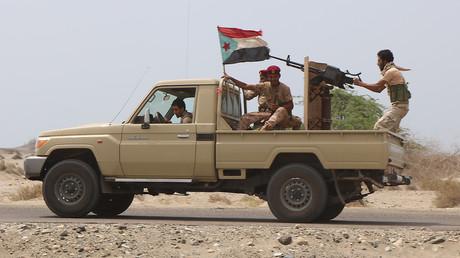 Des combattants de la brigade «al-Amalqa» alliée à la coalition dirigée par l'Arabie saoudite, près de la ville de Zinjibar, le 2 septembre 2019, au Yémen (image d'illustration).