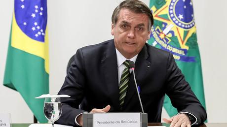 Le président Jair Bolsonaro, le 27 août 2019, au palais du Planalto, à Brasilia, au Brésil (image d'illustration).