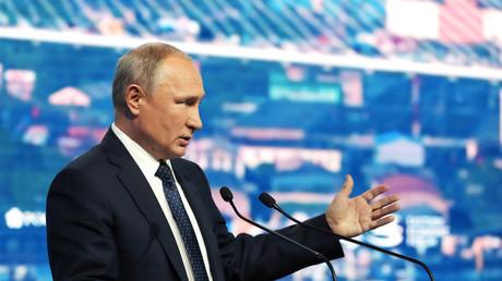 Vladimir Poutine le 5 septembre 2019 au forum économique de Vladivostok.