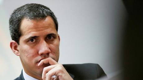 Le 3 septembre 2019, le chef de l'opposition vénézuélienne Juan Guaido assiste à une session de l'Assemblée nationale du Venezuela à Caracas.
