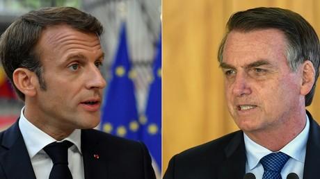 Emmanuel Macron (à gauche) et Jair Bolsonaro (à droite) (image d'illustration).