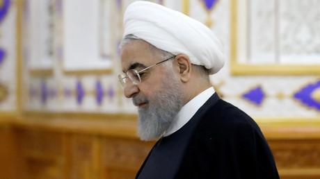 Le président iranien Hassan Rouhani à Douchanbé, au Tadjikistan, le 15 juin 2019.