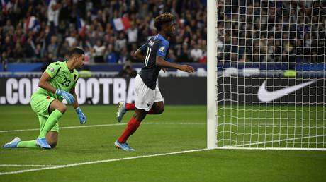 Un incident protocolaire a eu lieu avant le match entre la France et l'Albanie (image d'illustration).