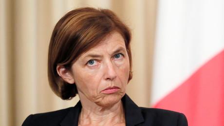 La ministre française des Armées Florence Parly participe à une conférence de presse à l'issue de la 12e réunion du Conseil de coopération de sécurité franco-russe, le 9 septembre 2019.