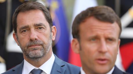 Christophe Castaner et Emmanuel Macron en conférence de presse le 22 juillet à l'Elysée (image d'illustration).