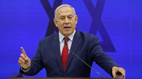 Le Premier ministre israélien, Benjamin Netanyahou, prononce un discours dans la ville de Ramat Gan, dans la banlieue de Tel Aviv, le 10 septembre 2019 (image d'illustration).