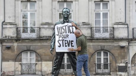 Un rassemblement à Nantes le 12 septembre 2019 en hommage à Steve Maia Caniço.