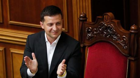 Le président ukrainien Volodymyr Zelensky.