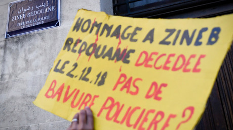 Manifestation en hommage à Zineb Redouane en avril 2019.