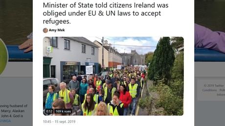 Des Gilets jaunes irlandais se mobilisent contre l'ouverture d'un centre pour demandeurs d'asile