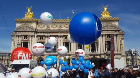 Manifestation du Collectif SOS Retraites place de l'Opéra à Paris le 16 septembre 2019, @lucas_rtfrance